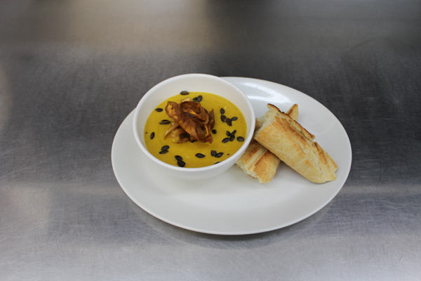 Spiced Parsnip & Carrot Soup Finish